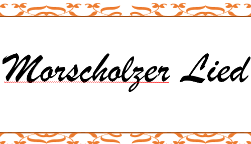 Morscholz im Hochwald (Lied)