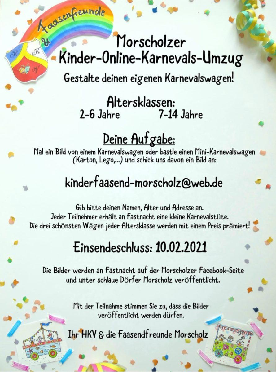 Kinder-Online-Karnevals-Umzug